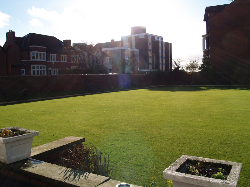 Bowling green from terrace