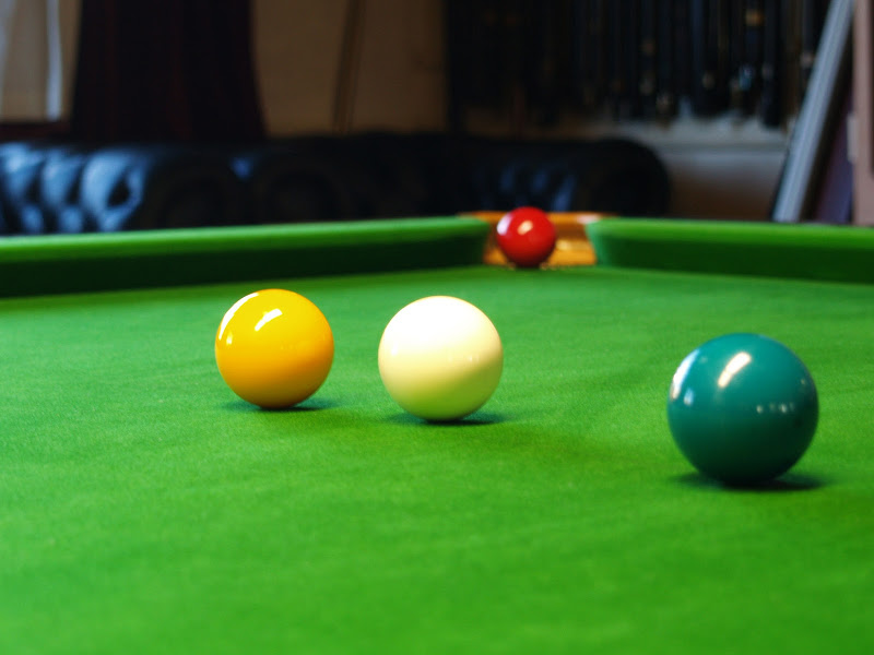 One of our snooker tables