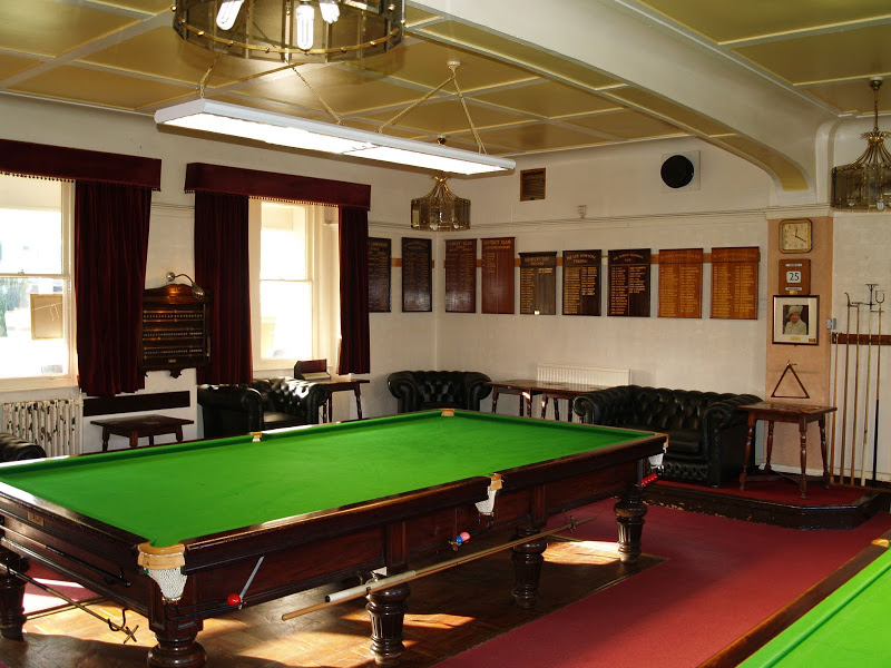 Snooker table presentation boards
